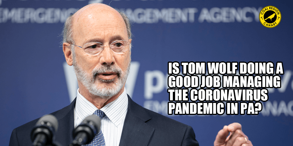 READER POLL: Is Tom Wolf Doing a Good Job Managing the Coronavirus Pandemic in Pennsylvania?