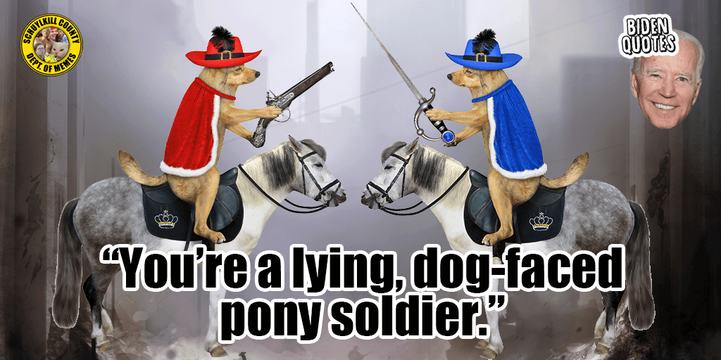 No Room for a Lying Dog Faced Pony Soldier in Biden's America