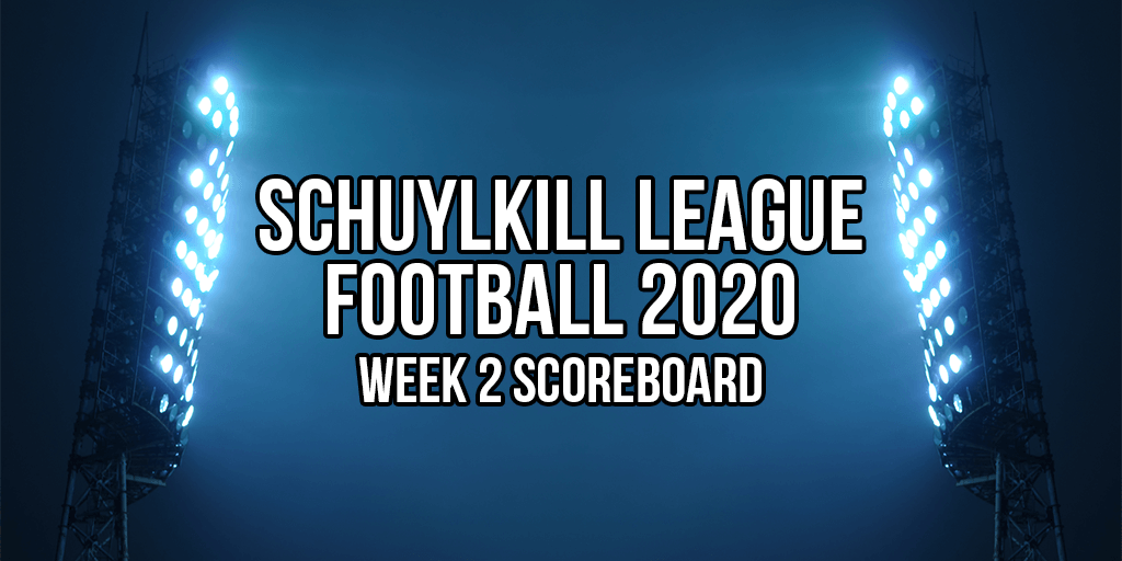 2020 Schuylkill League Football Week 2 Schedule