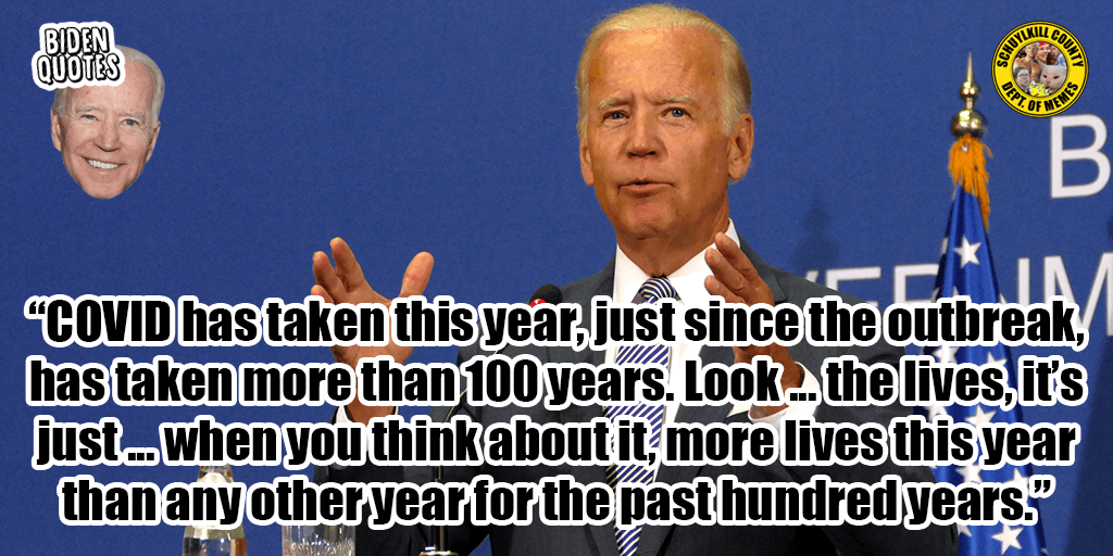 Biden Bumbling In Pennsylvania The Covid Quote Everyone S Talking About Coal Region Canary