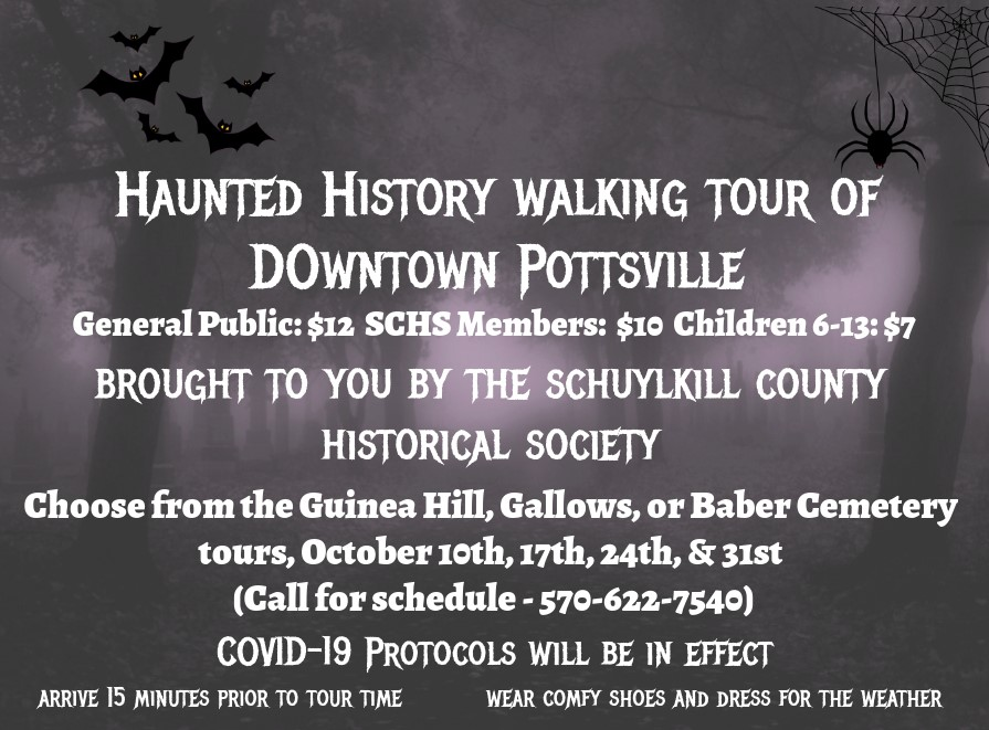 Www.October Halloween Events In Schuylkill County 2020 Schuylkill County Historical Society Hosting Haunted Walks of
