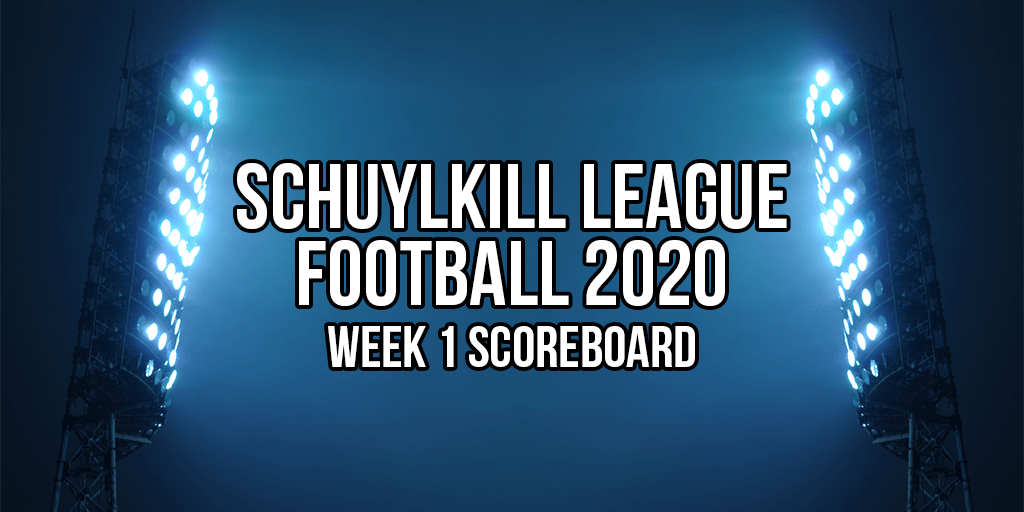 schuylkill league football week 1 scoreboard