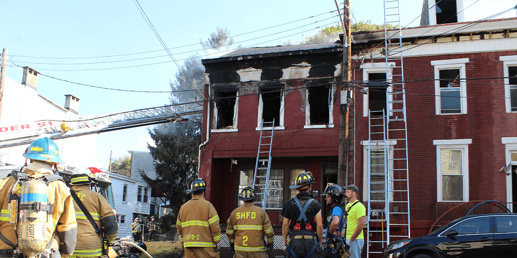 Witnesses Say Woman Jumps from Burning Home in Pottsville
