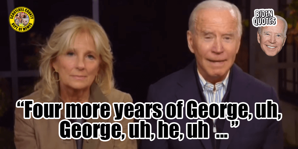 biden quote four more years of george