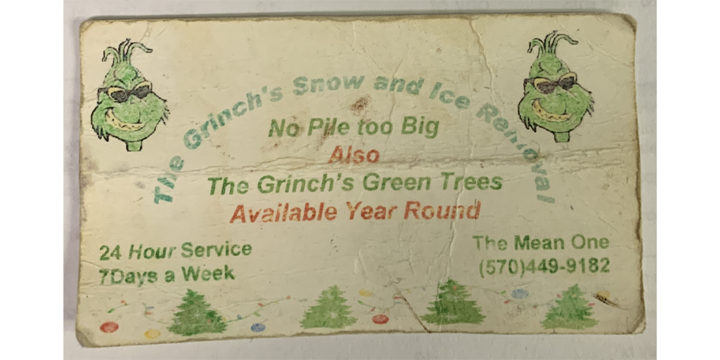 REVEALED! The Grinch's Meth Dealer Business Cards