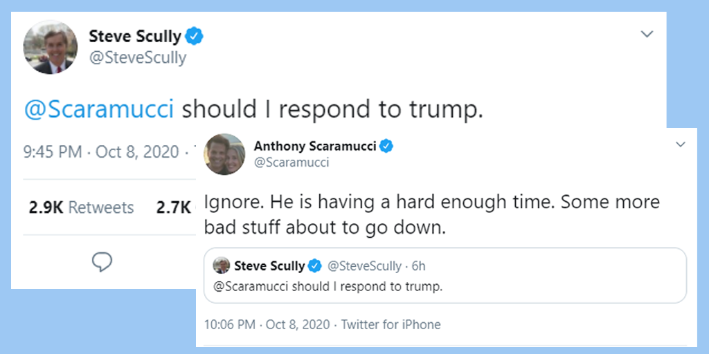 steve scully tweet anthony scaramucci