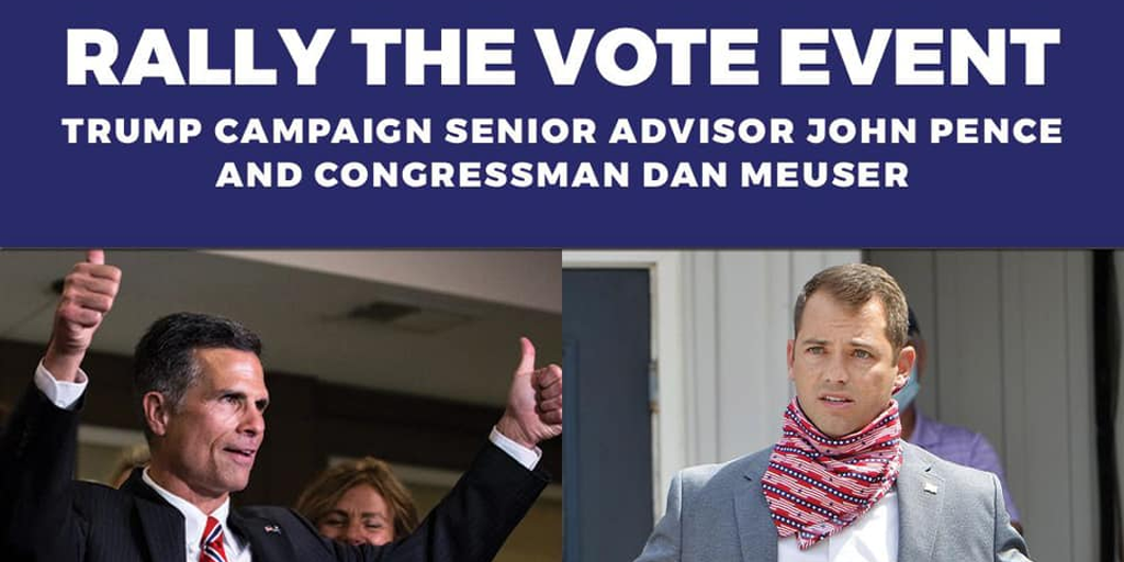 Schuylkill County MAGA Rally Today Features Mike Pence's Nephew and Dan Meuser