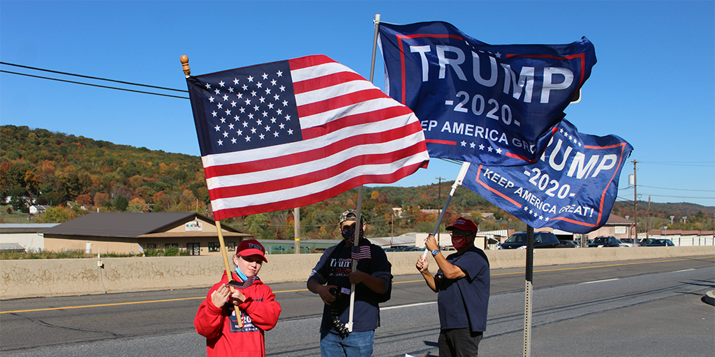 Local Trump Supporters Gather for Biggest Flag Drop Yet