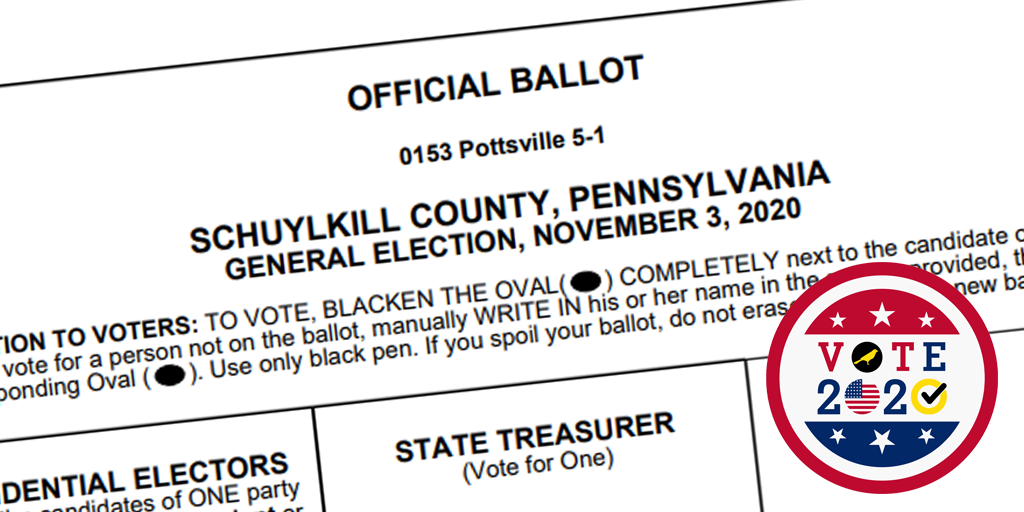vote 2020 schuylkill county general election sample ballots