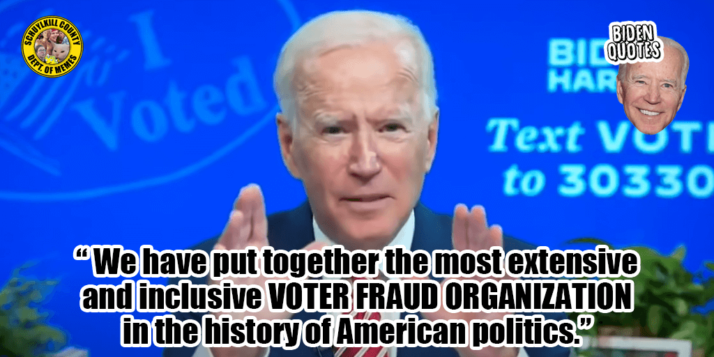 Was This the Ultimate Freudian Slip? Biden Says Democrats Built the Largest Voter Fraud Organization in American History