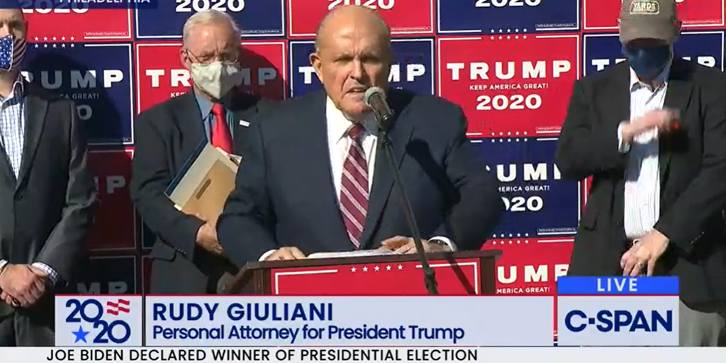 Guiliani Presents Evidence of Alleged Voter Fraud in Pennsylvania