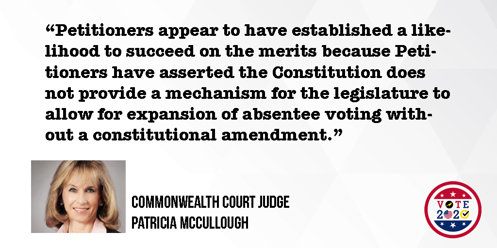 Pennsylvania Judge Who Ordered Halt to Election Certification Believes Act 77 Lawsuit Has Merit