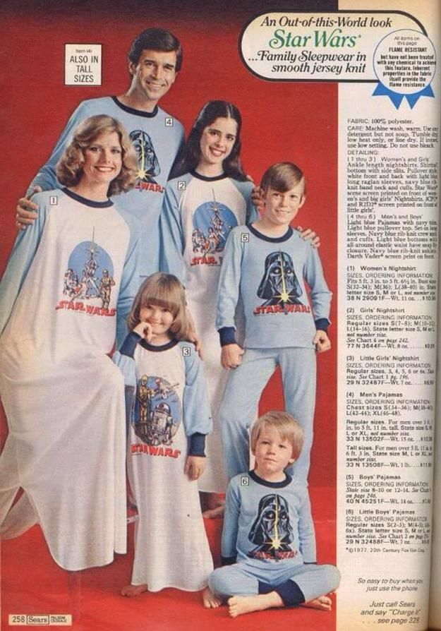 matching pajamas star wars
