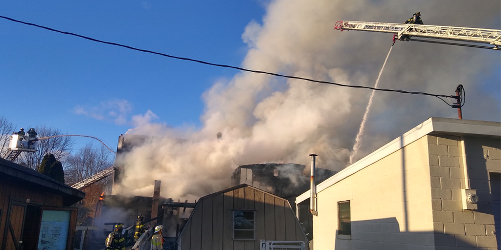 Fire Crews on Scene in Seltzer – Two Buildings Heavily Damaged by Flames