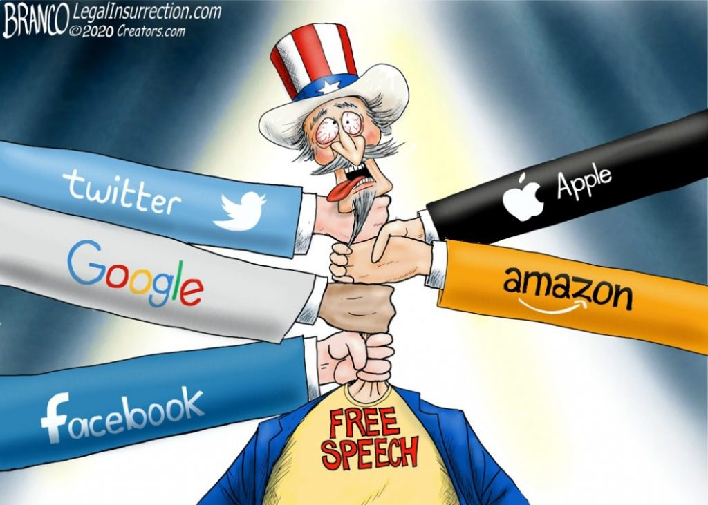 Big Tech Censoring Conservative Voices – Their Choice, But It's Not Right