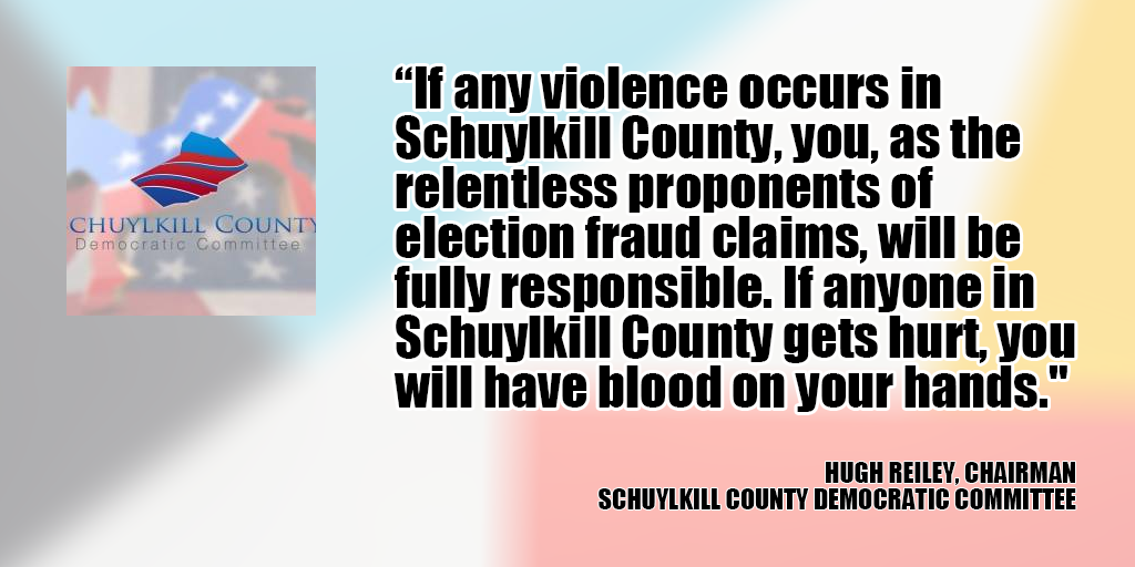 schuylkill democrats blood on your hands