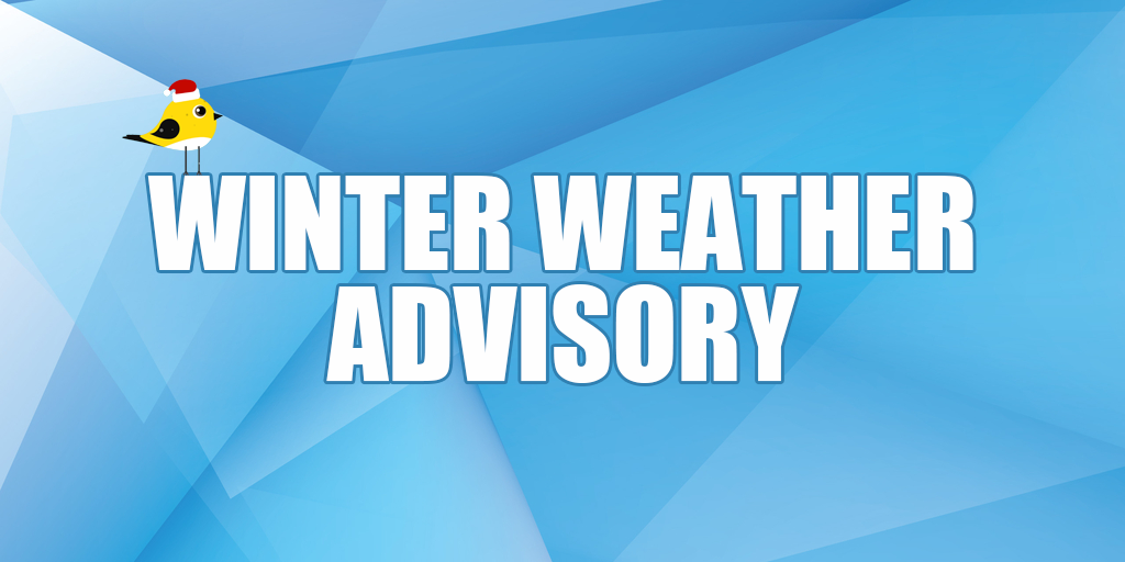 🌨️ Winter Weather Advisory – 1-3 Inches of Snow Likely on Sunday