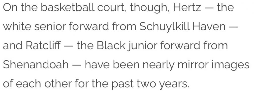 """""""Racist"""" Article on High School Basketball Players Riles Schuylkill County Readers"""