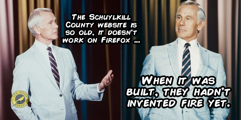Schuylkill County's Government Website is So Old …