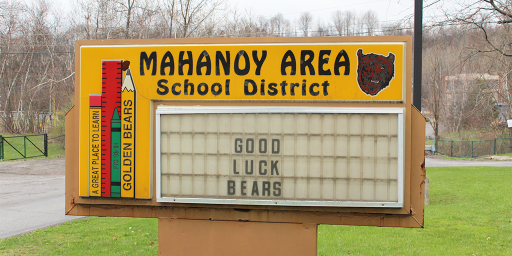 mahanoy area school district hoodie protest