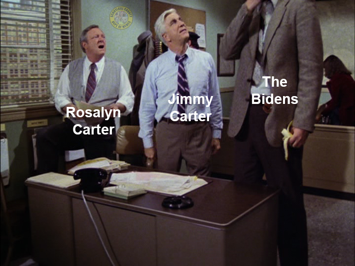 biden photo with the carters meme