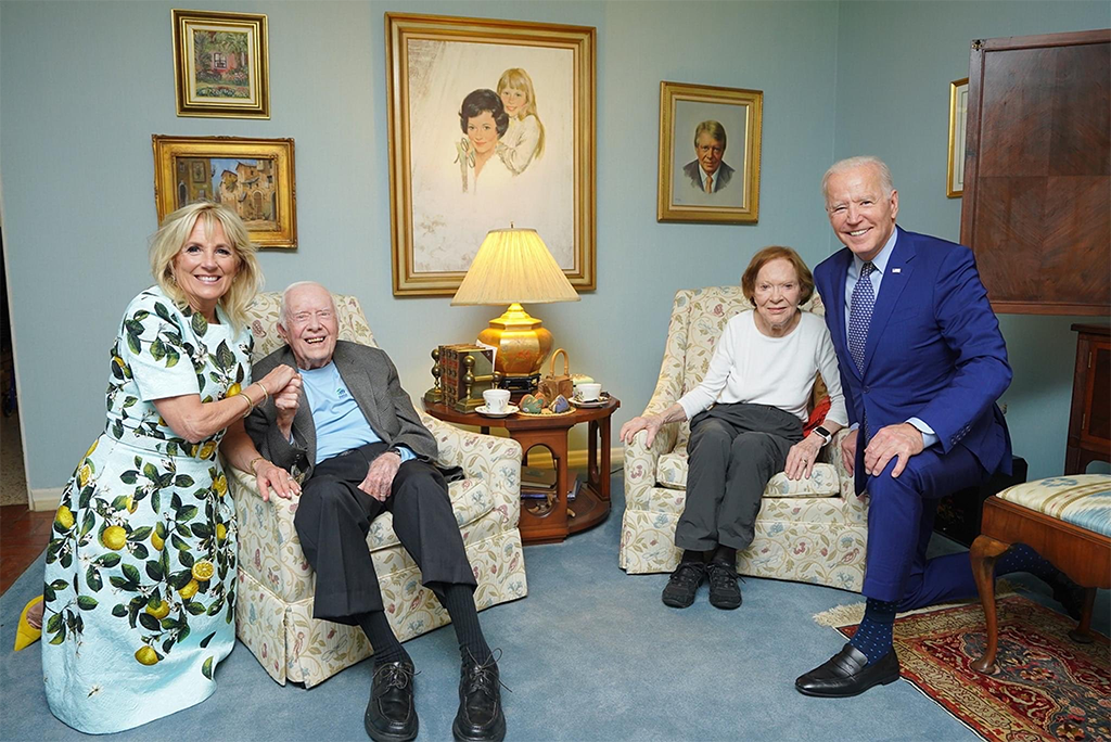 biden photo with the carters