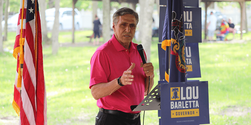 lou barletta pennsylvania governor campaign hazleton hazle township community park