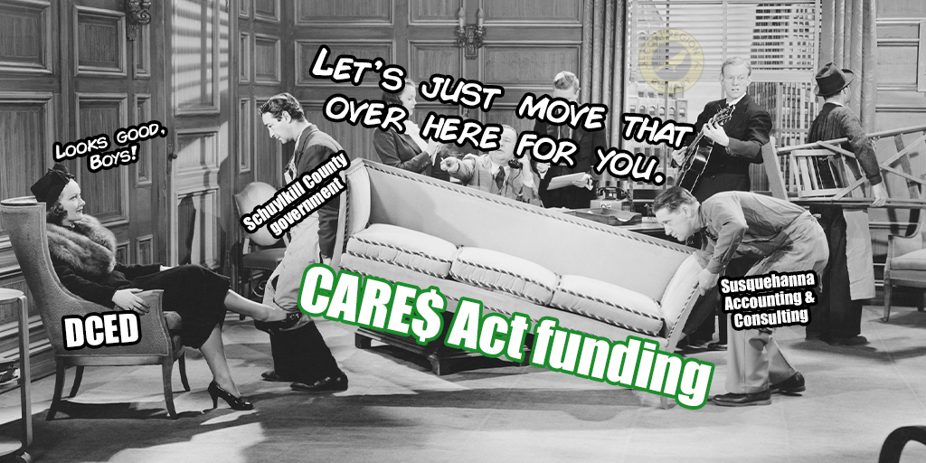 cares act funding spending schuylkill county
