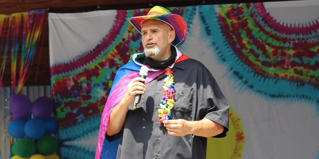 Pennsylvania Lt Governor John Fetterman attends Pottsville PrideFest 2021
