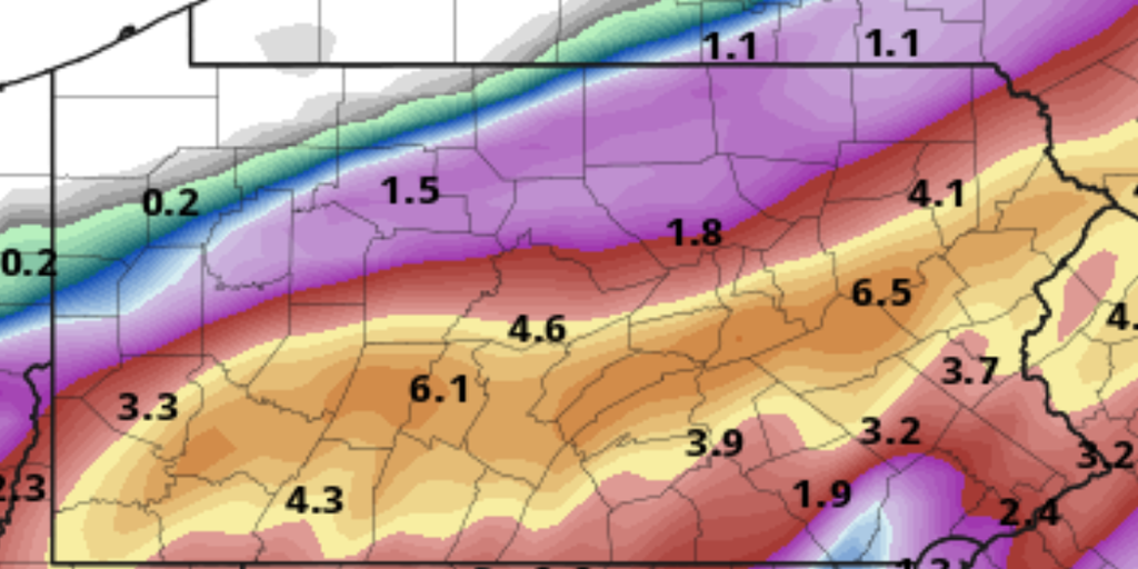 🌀 Close to 7 Inches of Rain Possible in Schuylkill County from Ida