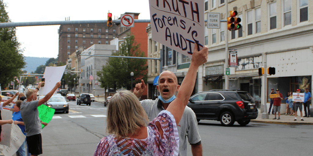 Tempers Flare at Election Audit Protest in Pottsville