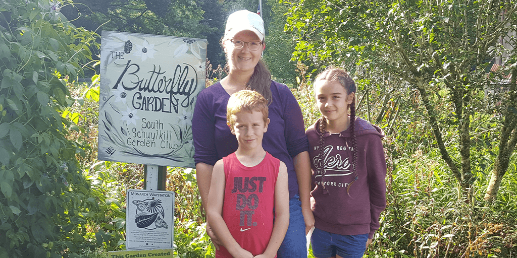 New Sign Added to Pine Grove Butterfly Garden